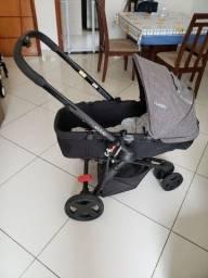 Carrinho de bebê travel system kiddo compass 3 + bebê conforto que encaixa no carrinho