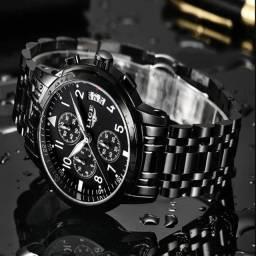 Relógio Casual Lige Original + Caixa + Brinde