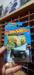 Miniatura hot Wheels tartarugas ninja customizada lacrada no blister