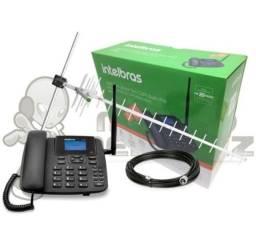 Kit Telefone Celular Fixo 3G Intelbras Cfa 6041 + Antena<br><br>