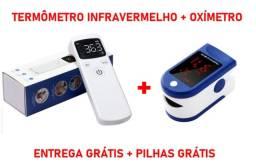 Termômetro infravermelho + Oxímetro + Entrega Grátis + Pilhas Grátis - Novo