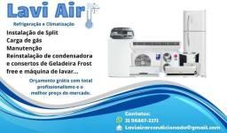 Instalação manutenção  e conserto de ar condicionado  em geral
