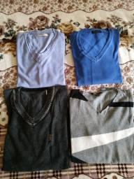 4 blusas masculinas m