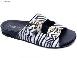 Sandália birken zebrinha com solado emborachado antiderrapante
