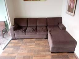 Sofá com chaise 5 lugares