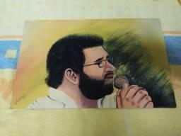 Renato Russo - Dois Quadros Raros 1997 Pintados A Mão