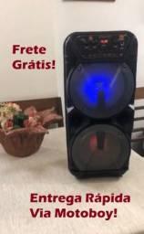 Caixa Bluetooth KTS 1131 ((2 Altos falantes de 6,5 - 700W)) + microfone! Frete Grátis!