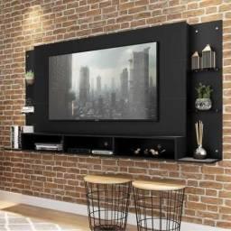 Painel para TV até 65 Nairóbi Plus Multimóveis Preto
