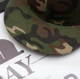Boné chapéu Aba Reta Camuflado unissex