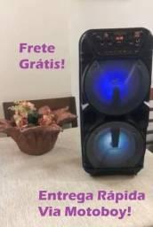Caixa de Som FM -KTS 1131 (2 Altos falantes de 6,5 - 700W) + microfone! Frete Grátis!