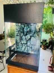 Aquário torre ou vertical vidro temperado 10mm