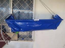 Máquina de lavar ar condicionado e saco coletor de resíduos
