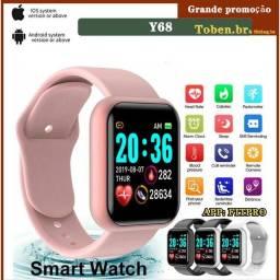 Smart Watch Y68 À Prova D 'Água Com Rastreador De Frequência Cardíaca Para Ios / Android