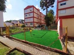 Apartamento de 3 dormitórios, sala, banheiro, cozinha e área de serviço.