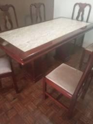 Mesa jantar 6 cadeiras.