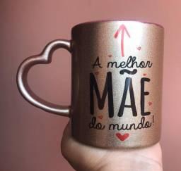 Caneca Dourada Personalizada Dia das Mães