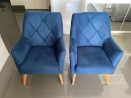 Poltronas decorativas azuis