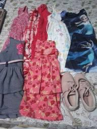 Vendo roupa para criança, tam: 8 anos. Ótimo estado, e calçado molekinha tam: 29
