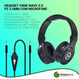Fone headset vinik 2.0 com conexão p2