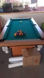 Sinuca completa mesa de madeira seminova