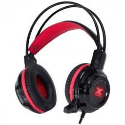 fone headset vx gaming taranis v2 p2 com mic preto e vermelho