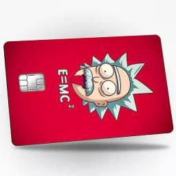 Kit100un. Adesivo Protetor P/ revenda Cartão De Crédito Personalizado Com Nome<br><br>