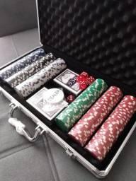 Jogo de Poker 300 pc, e Maleta Alumínio
