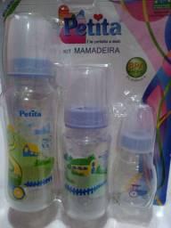 Kit de mamadeira PETITA com três mamadeiras