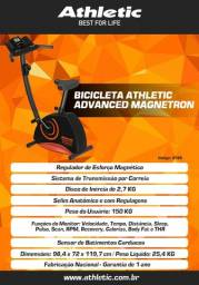 bicicleta modelo athletic advanced com sensor de pulso e cardio