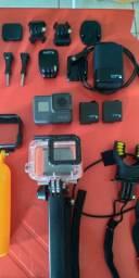 Go Pro Hero 5 Black - 2 baterias originais, completíssima!