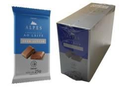Chocolate Alpes Zero Açúcar Caixa com 16un de 25g Salware