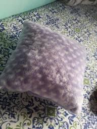 Almofadas  de pelúcia, capa removível.