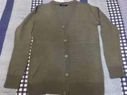 Casaco tricô masculino adulto