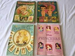 Álbuns de Figurinhas (4 unidades): Amar É, Moranguinho, Princesas, Bem Me Quer
