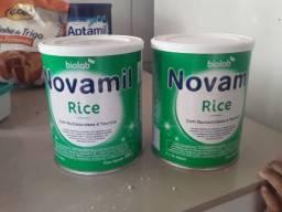 Vendo duas latas de Novamil Rice 150,00