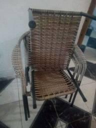 Vendo conjunto de cadeira de varanda valor 350