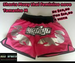 Shorts Muay thai feminino novo tamanho M