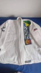 Kimono Jiu Jitsu Dragão Brasil Branco Infantil - M3