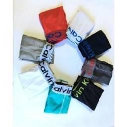 Kit com 5 Cuecas Calvin Klein Boxer Masculinas Microfibra - Atacado