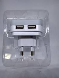 Carregador de celular duplo USB e lâmpada led com sensor de presença novo