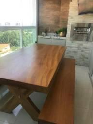 Vendo mesas de madeira de prancha