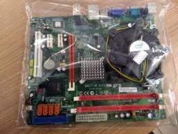 Kit placa mãe Core 2 duo 2.4Ghz DDR2 PCI-express