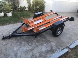 Carreta rodoviária para 3 motos