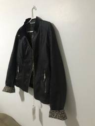 Jaqueta de couro + mala de viagem de couro