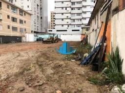 Terreno para alugar, 880 m² por R$ 18.000;00/mês - Boqueirão - Santos/SP