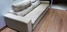 sofa  retrátil de couro  tamanho 2.70 de comprimento