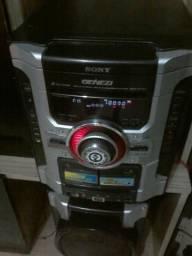 SOM SONY GENESIS 400RMS ,cd ,cartão, am,FM,mp3. sem as caixas de som