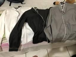 3 Camisas de manda cumprida 100 as três