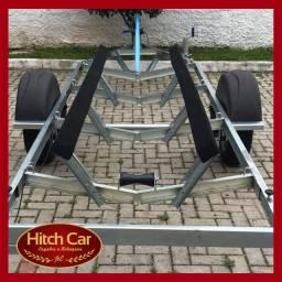 Carretinha perfeita - Com pneus novos, homologada, para barcos de até 5m
