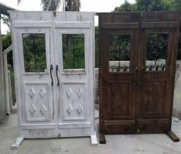 Portas de madeira decorativa